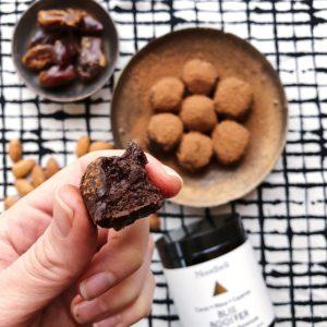 maca truffle almonds and dates