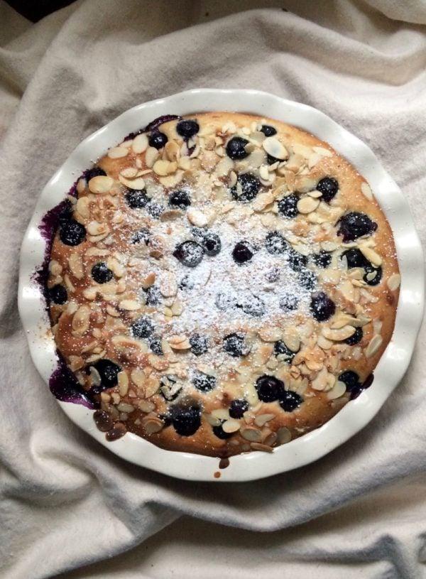 Blueberry Oat Pancake Bake