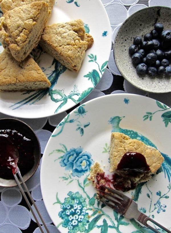 Make your mom (or yourself!) these insane almond blueberry scones