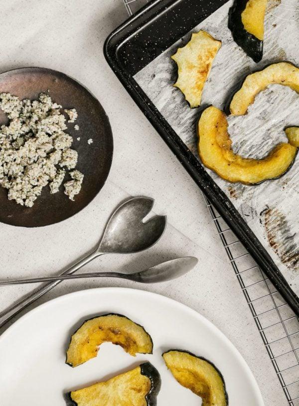 Cumin Roasted Acorn Squash with Hemp Chile Crumble