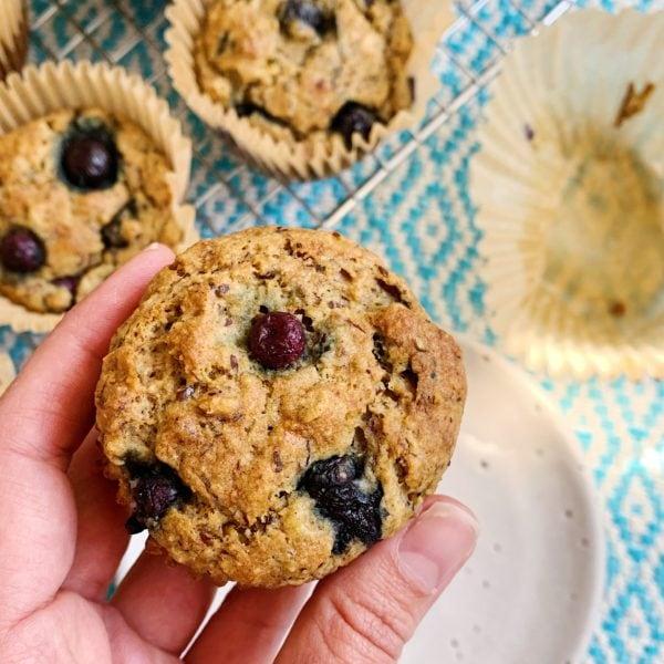 Healthy Vegan Blueberry Muffins Recipe