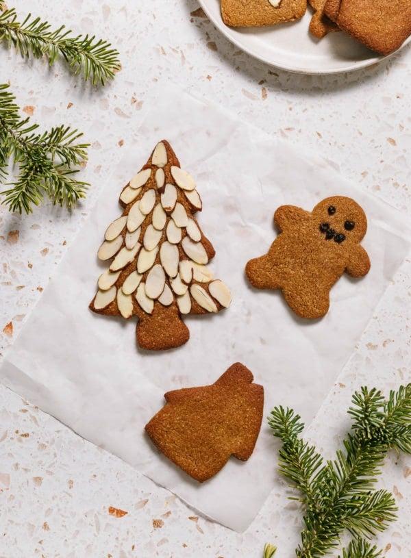 Vegan Gingerbread Cookies (Gluten Free)