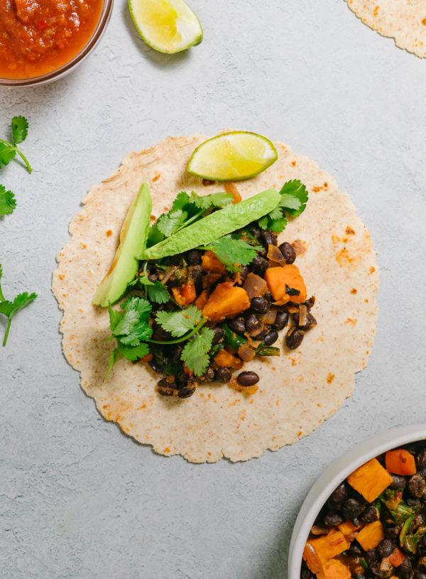 Healthy Vegan Black Bean Breakfast Burrito