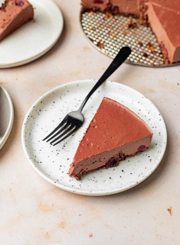Chocolate Cherry Cashew Cheesecake (vegan)