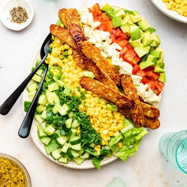 Vegan Cobb Salad with Tempeh 'Bacon'