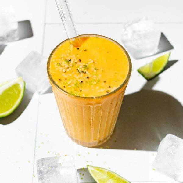 Low FODMAP Papaya Lime Smoothie