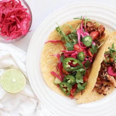 Registered Dietitian Lindsay Pleskot's Cauliflower Chickpea Tacos