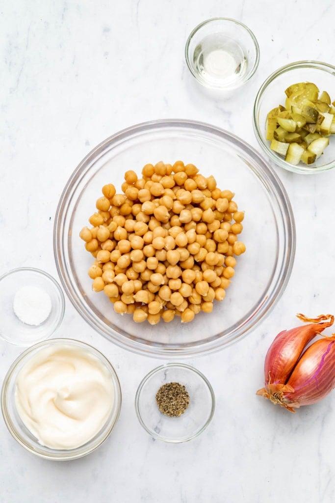Ingredients for Registered Dietitian Desiree Nielsen's Chickpea Sandwich