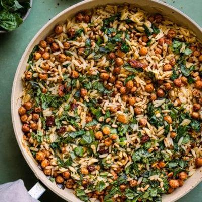 Rainbow Plantlife's Lemon Orzo Pasta Salad Recipe